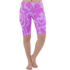 Migraine Pink Cropped Leggings