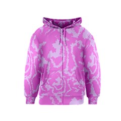 Migraine Pink Kids Zipper Hoodies