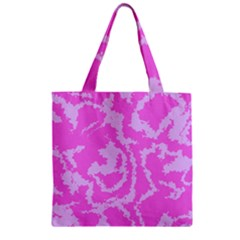 Migraine Pink Zipper Grocery Tote Bags