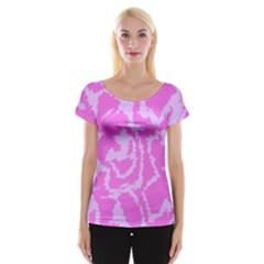Migraine Pink Women s Cap Sleeve Top