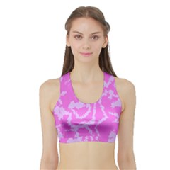 Migraine Pink Women s Sports Bra With Border