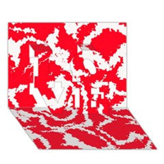 Migraine Red White LOVE 3D Greeting Card (7x5)