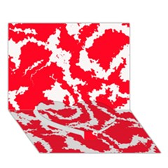 Migraine Red White Heart Bottom 3D Greeting Card (7x5)