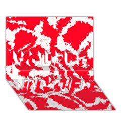 Migraine Red White YOU ARE INVITED 3D Greeting Card (7x5)