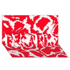 Migraine Red White BEST BRO 3D Greeting Card (8x4)