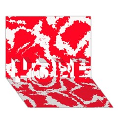 Migraine Red White Hope 3d Greeting Card (7x5)