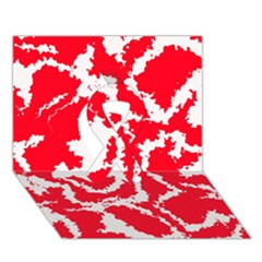 Migraine Red White Ribbon 3D Greeting Card (7x5)