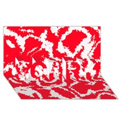 Migraine Red White SORRY 3D Greeting Card (8x4)