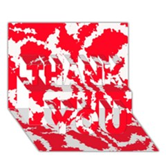 Migraine Red White THANK YOU 3D Greeting Card (7x5)