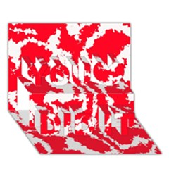 Migraine Red White You Did It 3D Greeting Card (7x5)
