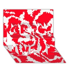 Migraine Red White Get Well 3D Greeting Card (7x5)
