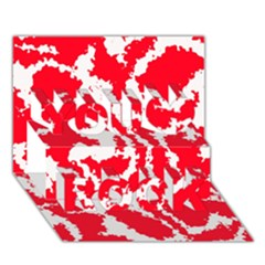 Migraine Red White You Rock 3D Greeting Card (7x5)