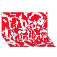 Migraine Red White Laugh Live Love 3D Greeting Card (8x4)