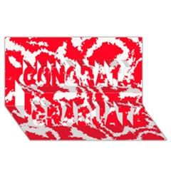Migraine Red White Congrats Graduate 3d Greeting Card (8x4)