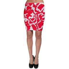 Migraine Red White Bodycon Skirts