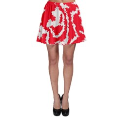Migraine Red White Skater Skirts