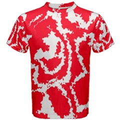 Migraine Red White Men s Cotton Tees