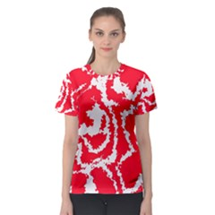Migraine Red White Women s Sport Mesh Tees
