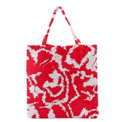 Migraine Red White Grocery Tote Bags