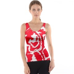 Migraine Red White Tank Tops