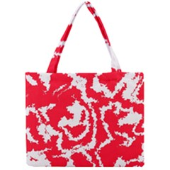 Migraine Red White Tiny Tote Bags