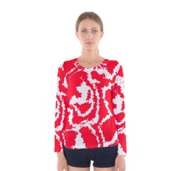 Migraine Red White Women s Long Sleeve T-shirts