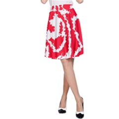 Migraine Red White A Line Skirts