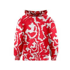 Migraine Red White Kid s Pullover Hoodies