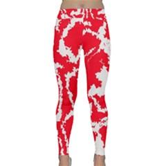 Migraine Red White Yoga Leggings