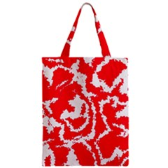 Migraine Red White Zipper Classic Tote Bags