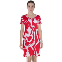 Migraine Red White Short Sleeve Nightdresses