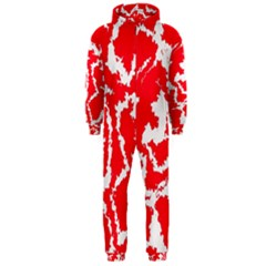 Migraine Red White Hooded Jumpsuit (Men)