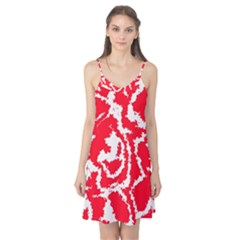 Migraine Red White Camis Nightgown