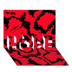 Migraine Red Hope 3d Greeting Card (7x5)