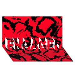 Migraine Red ENGAGED 3D Greeting Card (8x4)
