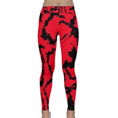 Migraine Red Yoga Leggings