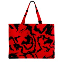 Migraine Red Zipper Tiny Tote Bags