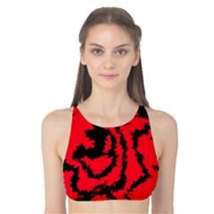 Migraine Red Tank Bikini Top