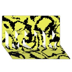 Migraine Yellow Mom 3d Greeting Card (8x4)