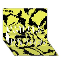 Migraine Yellow You Are Invited 3d Greeting Card (7x5)
