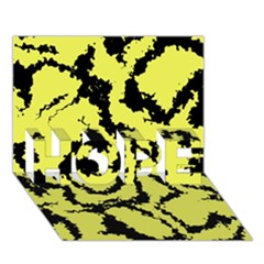 Migraine Yellow HOPE 3D Greeting Card (7x5)