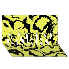 Migraine Yellow SORRY 3D Greeting Card (8x4)