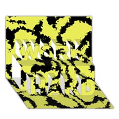 Migraine Yellow Work Hard 3d Greeting Card (7x5)