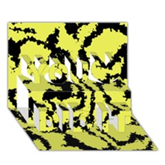 Migraine Yellow You Did It 3D Greeting Card (7x5)