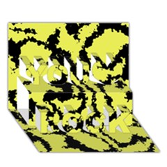 Migraine Yellow You Rock 3D Greeting Card (7x5)