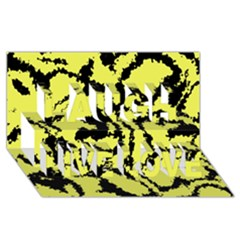 Migraine Yellow Laugh Live Love 3d Greeting Card (8x4)