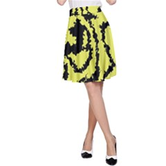 Migraine Yellow A-Line Skirts