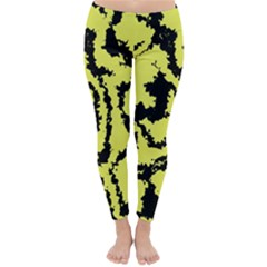 Migraine Yellow Winter Leggings