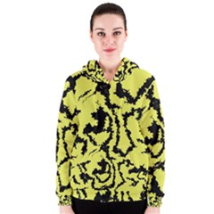 Migraine Yellow Women s Zipper Hoodies
