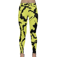 Migraine Yellow Yoga Leggings